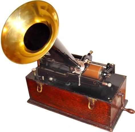 An Edison Wax Cylinder Phonograph