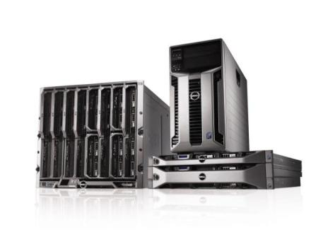 A selection of Dell servers.